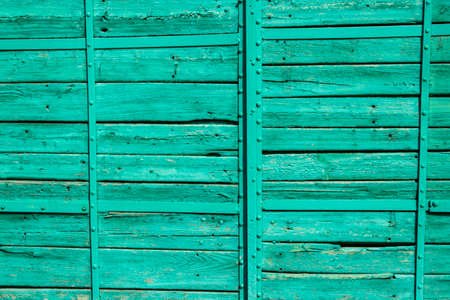 turquoise wood old plank texture background Archivio Fotografico