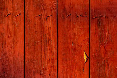 Old Terracotta color painted wood plank texture background
