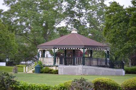 Large Gazebo with handicap ramp that is big enough to be used as a stage.