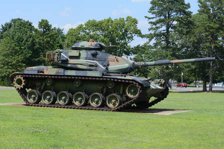 VINELAND, NJ USA- July 1st  Army Tank Retired in Vineland, NJ USA on July 1st.