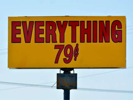 thrift: A Thrift Store Sign