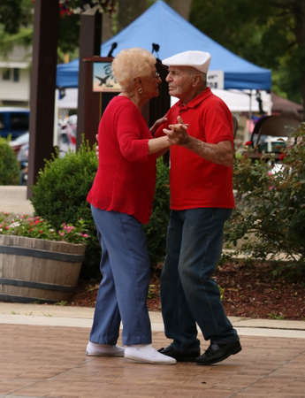 BUENA VISTA, NEW JERSEY USA  JULY 2, 2016 A senior couple dancing at a local event.
