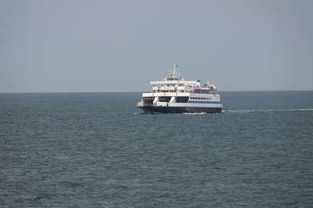 CAPE MAY, NEW JERSEY  USA AUGUST 25, 2016  The Cape May Lewis Ferry on a trip to Delaware