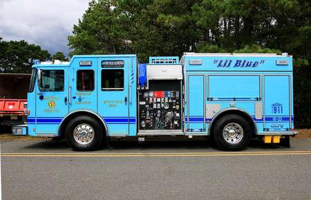 MAYS LANDING, NEW JERSEY  SEPTEMBER 30, 2017 Little Blue is a Mizpah fire truck