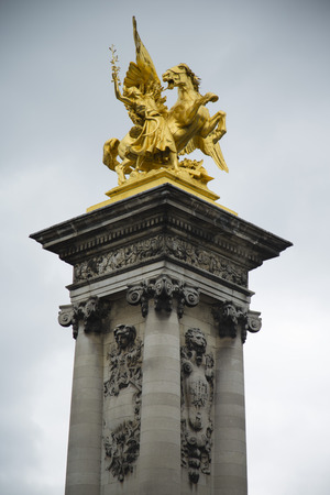 winged: Statue of winged horse and rider