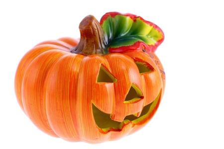 Halloween Pumpkin. Scary Jack. Isolated on white background Stock Photo - 8860438