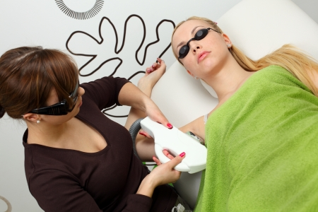 Laser hair removal in professional studio. Stock Photo - 8965277
