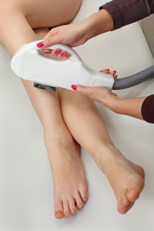 Laser hair removal in professional studio. Stock Photo - 8965883