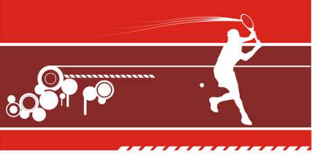 tennis composition vector Vector