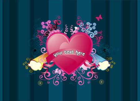 heart abstract vector Stock Vector - 3428386