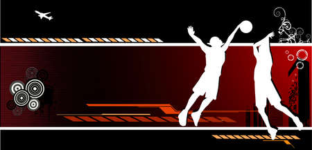 basketball vector composition