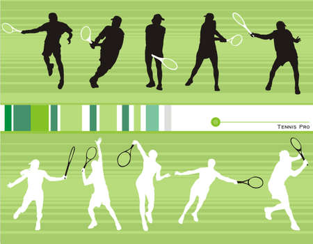 tennis vector composition shapes