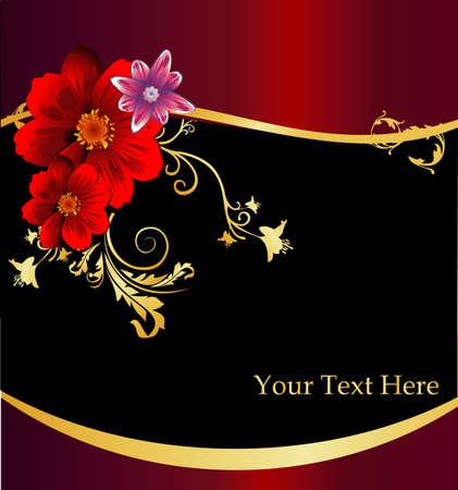 vintages: floral elegance vector