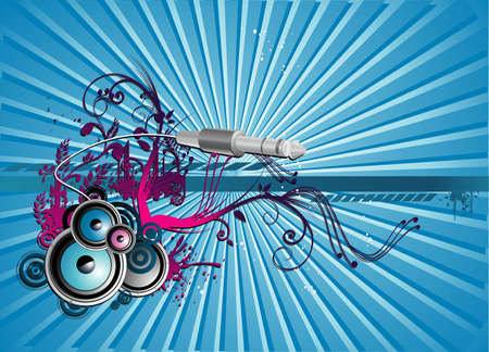 vintages: music vector composition