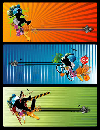 extreme sports vector Illustration