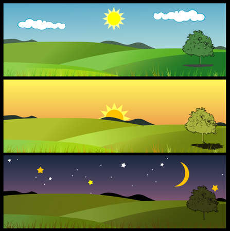 lanscape: lanscape vector composition Illustration