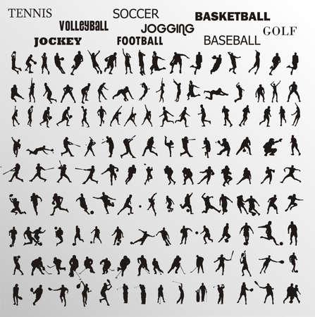 sport vector shapes Illustration