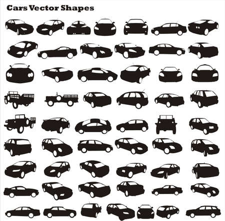 cars vector shapes Illustration