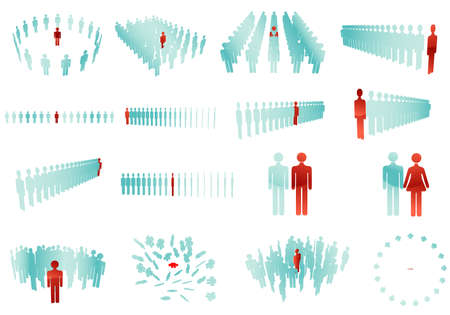 multitude: people vector glossy