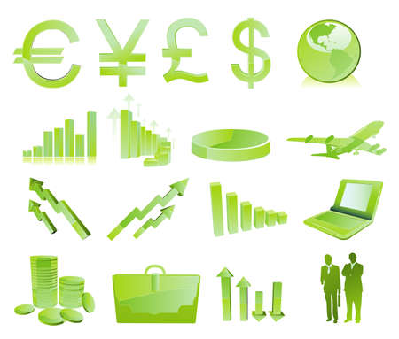 actual: glossy finance icons