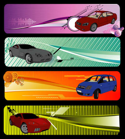 cars vector composition