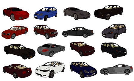 dirty car: cars vector