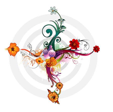 vintages: floral vector composition Illustration