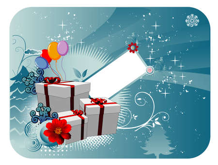 christmas gifts presents vector