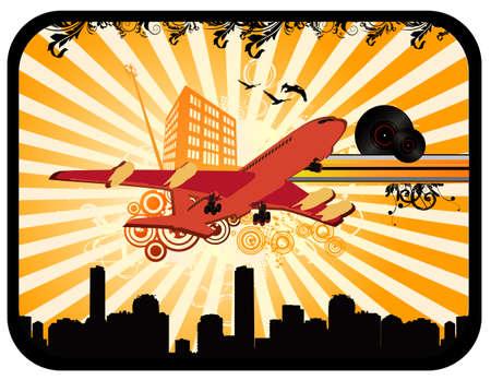 deco airplane vector Stock Vector - 3732005