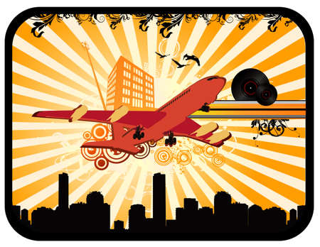 deco airplane vector