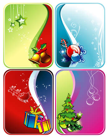 bell curve: christmas vector background