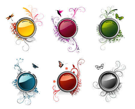 circular vector glossy composition Vectores