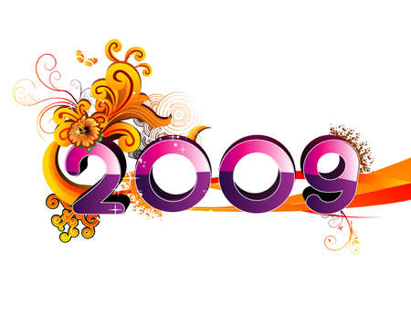 new year glossy number vector Vector