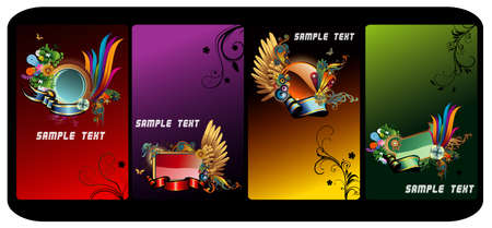 vintages: Glossy vector banners Illustration