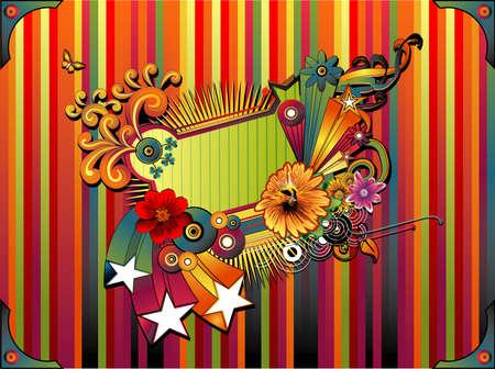 deco banner composition Illustration