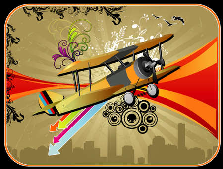 vintages: vector classic airplane Illustration