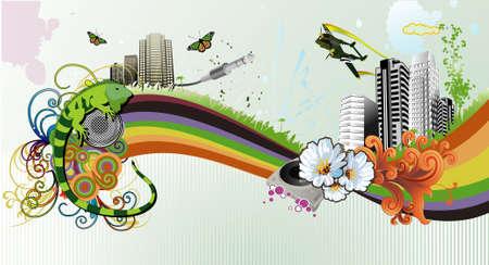 Urban vector illustration Stock Vector - 4063318
