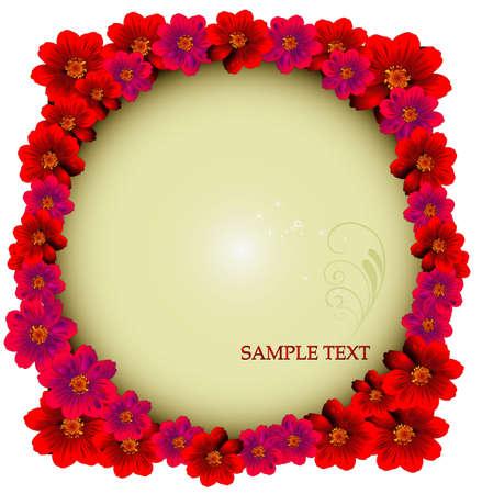 vintages: flower vector background