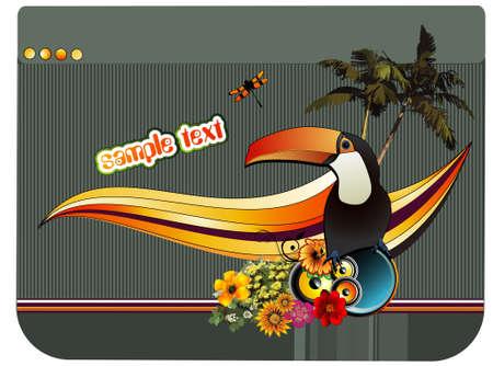 toucan: bird vector composition Illustration