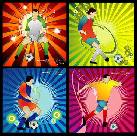 soccer vector composition Vector