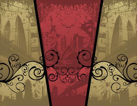 retro vector composition Illustration