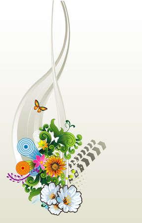 floral vector composition Vector