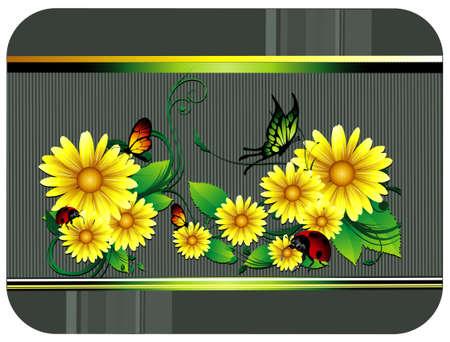 flower vector composition Illusztráció
