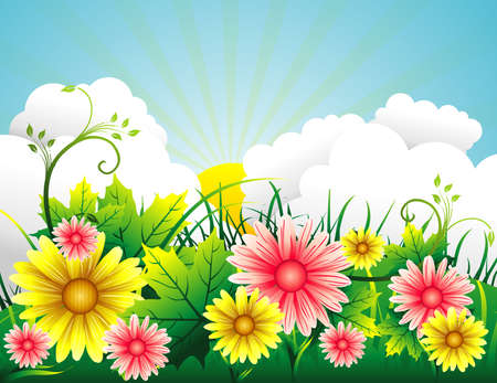garden vector background Stock Vector - 5424460