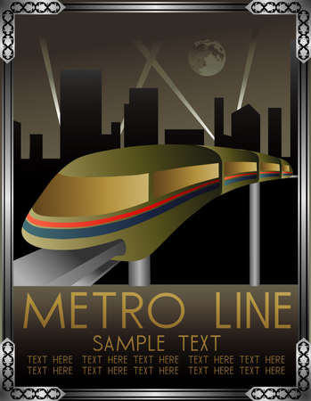 metro: art deco metro vector