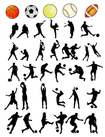 sports vector shapes Stock Vector - 5490512
