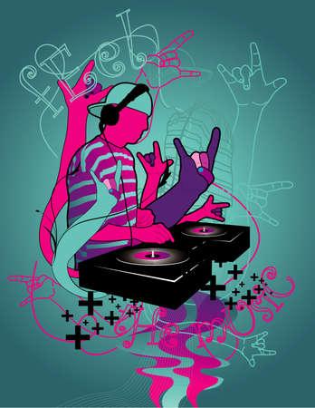 hip hop vector Vector