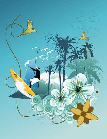 surfer vector: surfer vector composition