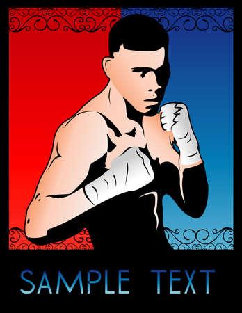 art deco boxer Vector