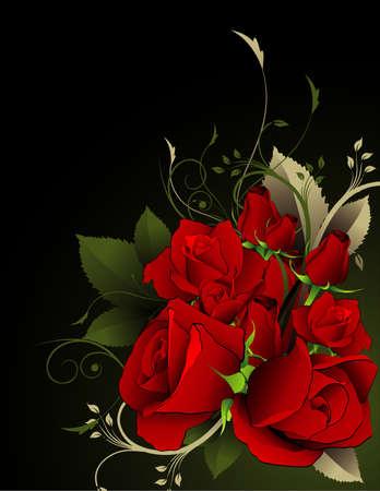 vintages: roses vector illustration